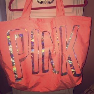 Oversized PINK tote bag